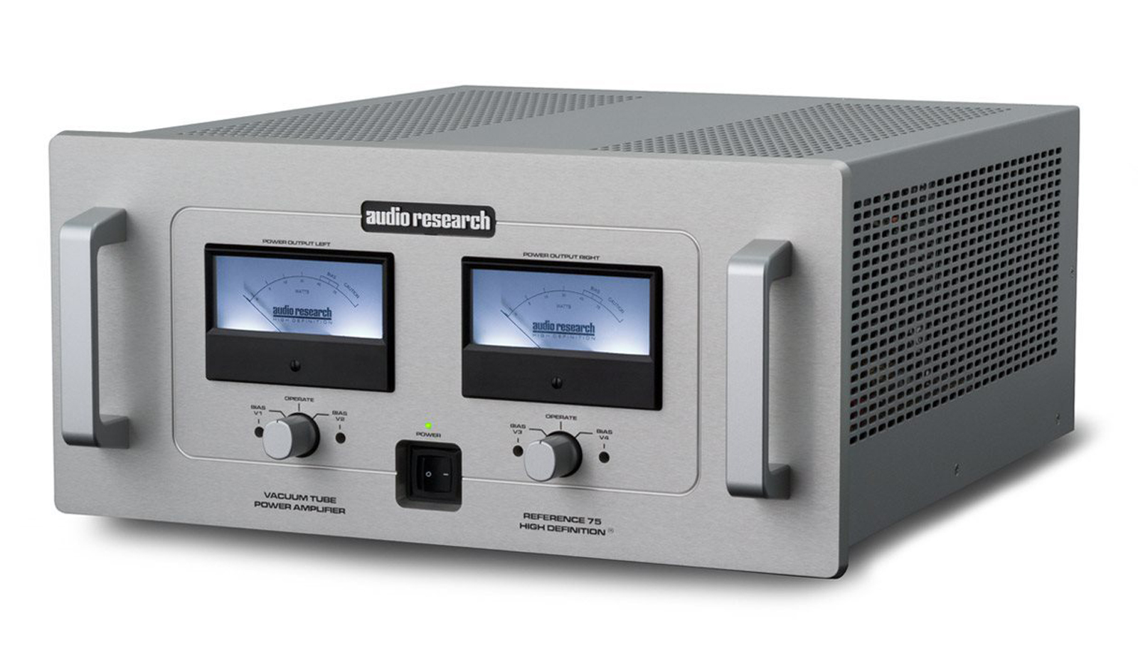 Reference 75 Se Audio Research Power Amplifier Venue Vu Meter For Amplifiers With Its Two Large Meters Which Display Output As Well Provide Bias Adjustments The Has A Timeless Appearance Resembling