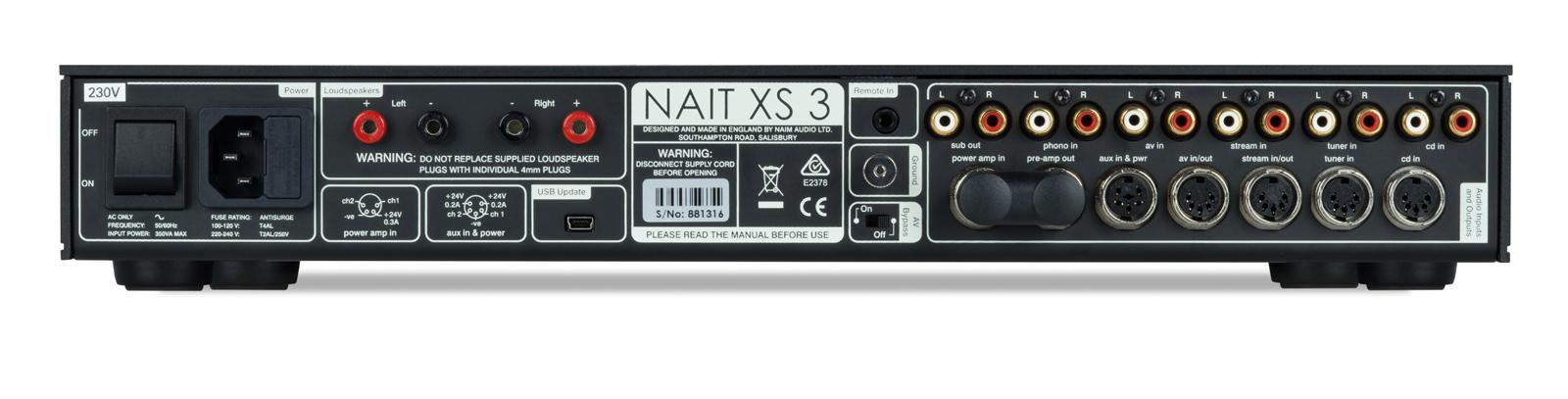 Nait XS 3 Connection Panel