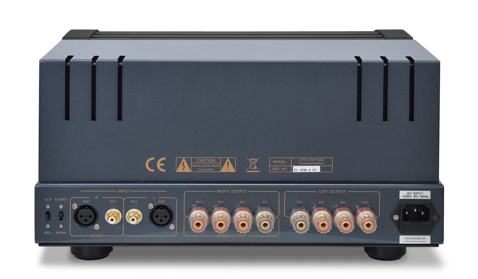 EVO 300 Power Amplifier Rear