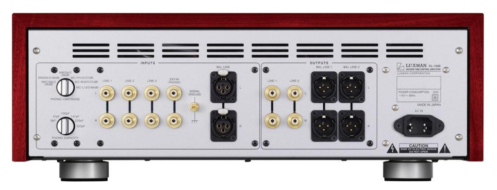 CL 1000 Rear panel