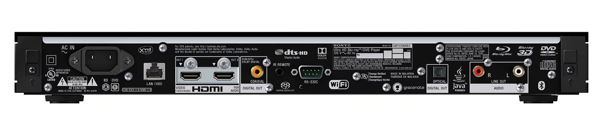 Sony UBP-X1100ES Rear panel