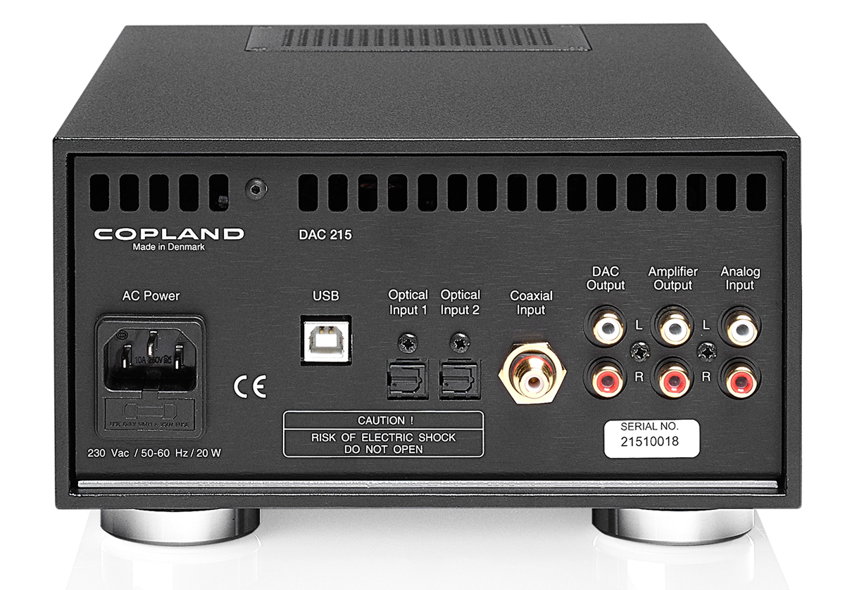 Copland DAC 215 Specifications