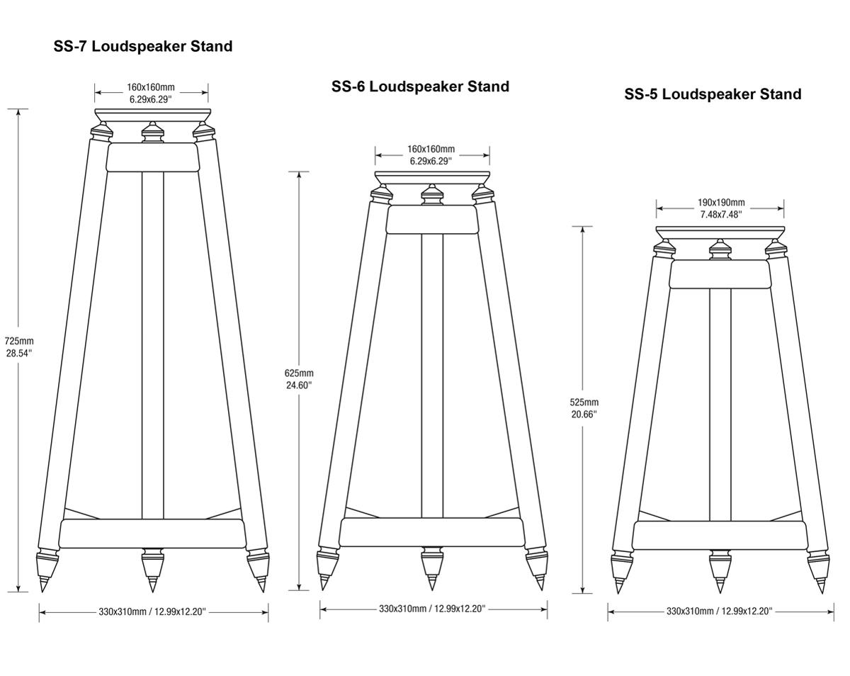 Solidsteel SS Speaker Stands Variations