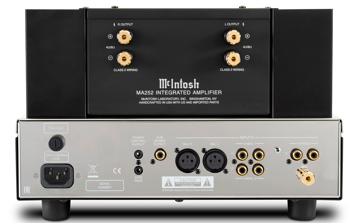 Specifications McIntosh MA252